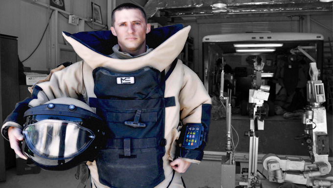EOD Tech First to Earn Army COB