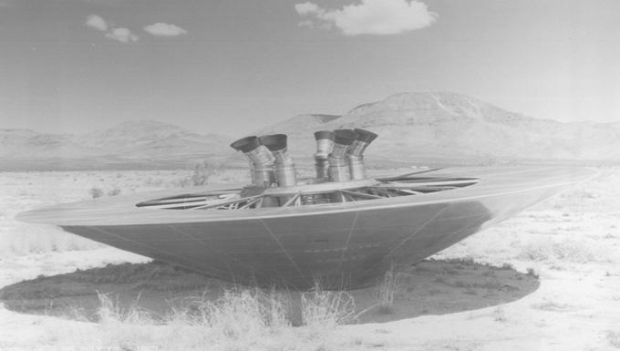 Closeup of a NASA Viking Saucer